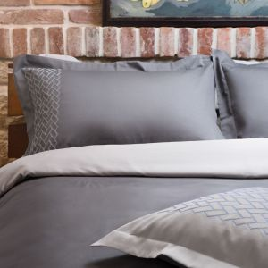 "Embroidered bed linen set ""Mr. Gray"""