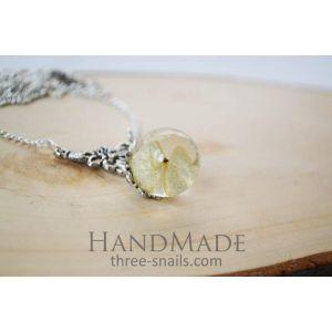 """Epoxy flower pendant """"Hydrangea"""""""