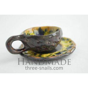 "Espresso ceramic cup ""Sunflower"""