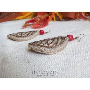 """Ethnic earrings """"Leaves in wind"""""""