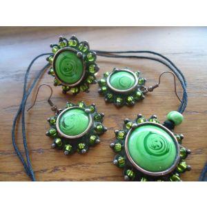"Fashion jewelry set ""Green Mint"""