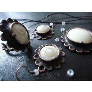 "Fashion jewelry set ""Ivory"""