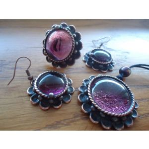 "Fashion jewelry set ""Lilac"""