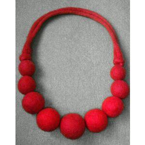 """Felt ball necklace """"Berries"""""""