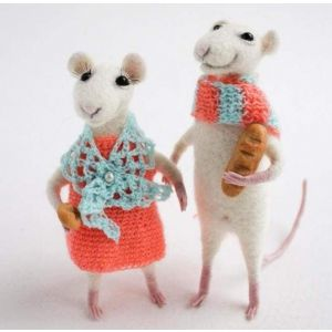"Felt crafts ""Cute mice"""