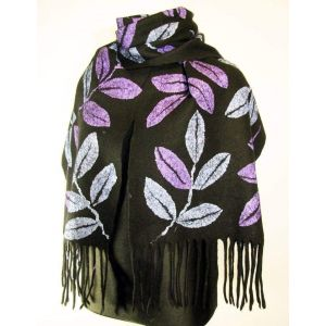 """Felted scarf """"Leaves fall"""""""