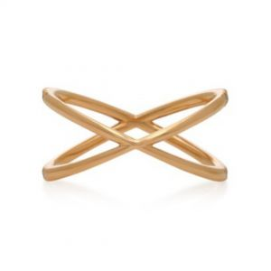 Fine shorty 14K gold ring