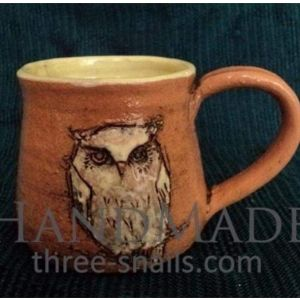 "Fireclay cup ""Owl"""