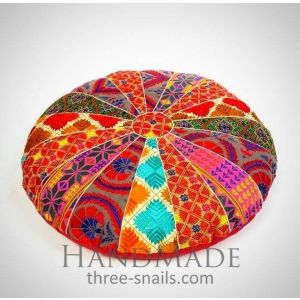Floor throw pillow cover