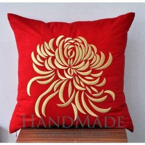 "Floral pillowcase ""Embroidered peony"""