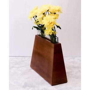 Flower display vase brown