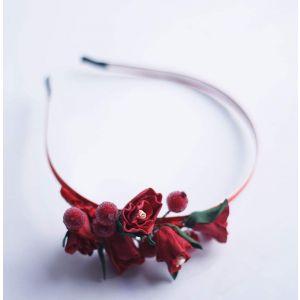 "Flower girl headbands ""Red mystique"""