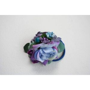 "Flower hair accessories ""Blue flowers"""