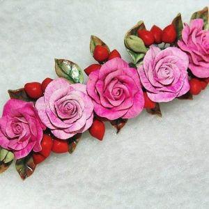 "Flower hair clip ""Paradise Garden"""