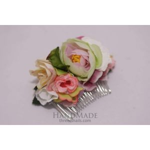 "Flower hair slide ""Vanilla shades"""
