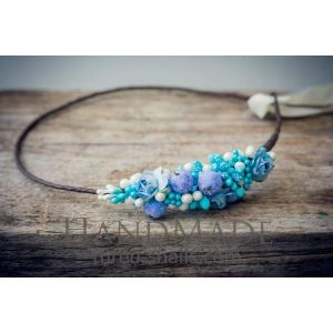 "Flower headband ""Airy-blue"""