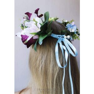 "Flower headband ""Lilac tenderness"""