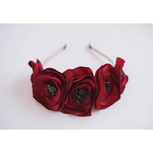 "Flower headband ""Ruby Flower"""