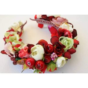 "Flower headband ""Strawberry"""