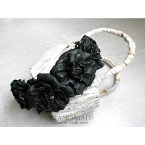 "Flower headbands ""Black night"""