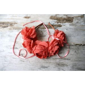 "Flower headbands for women ""Coral roses"""