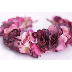 "Flower headbands for women ""Purple rose"""