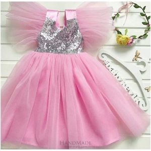 Fluffy tulle flower girl dress