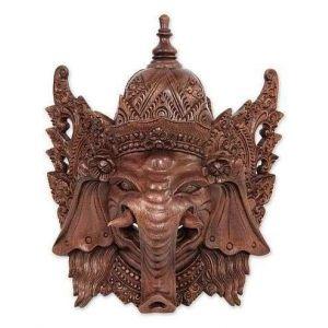 Ganesha Hindu Deity wooden mask