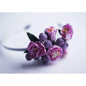 "Girls headbands ""Violet luxury"""