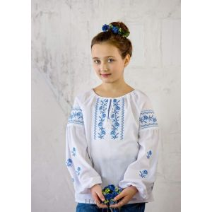 "Girls white long sleeve shirt ""Alana"""