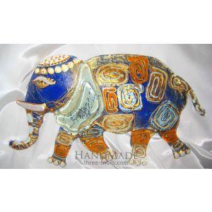 "Glass Elephant. Handmade home decoration ""Indian Fusion"""