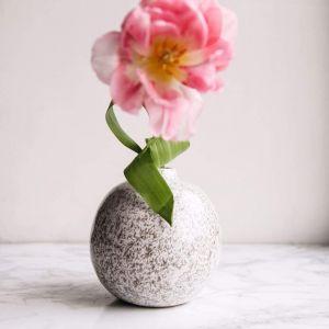 Gray round vases