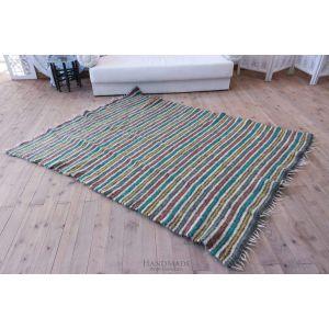 """Green - blue area rug """"Rainbow"""""""