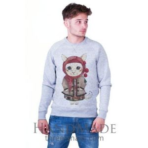 Grey Man Sweatshirt «She-kitty»