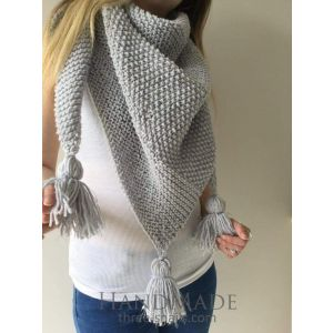 Grey triangular scarf
