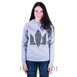 Grey Woman Sweatshirt «Hymn»