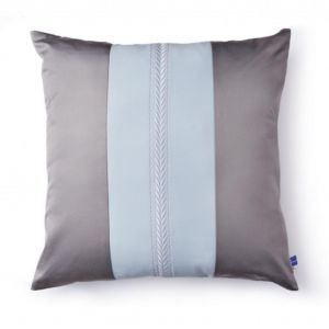 "Grey and blue decorative pillow ""Vesper Martini"""