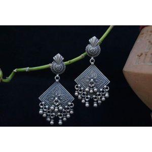 Gypsy dangle silver earrings