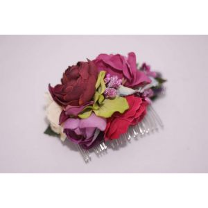 "Hair accessories flowers. Hair comb ""Bouquet of roses"""