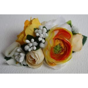"Hair clips ""Yellow flowers"""