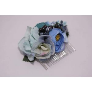 "Hair comb accessories ""Blue dream"""