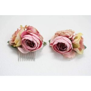 "Hair combs and clips set ""Spring"""
