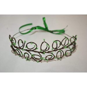 "Hair jewelry. Hair band ""Green fresh"""