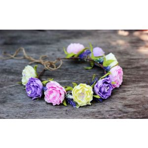 Hair wreath «Spring colors»