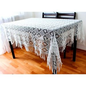 """Hand crocheted tablecloth """"Winter Dream"""""""