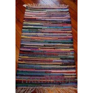 Hand woven bathroom rug