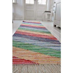Hand woven rug runner