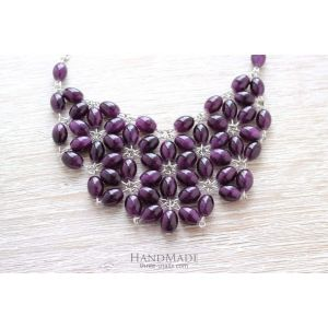 """Handcrafted Chunky Necklace """"Arden lilac"""""""