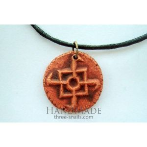 Handcrafted clay talisman «The Symbol of a Falcon»