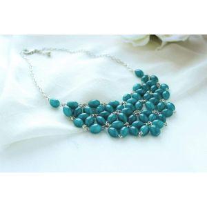 "Handcrafted design necklace ""Arden blue"""